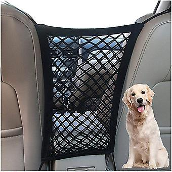 Filet barrière pour chien pour le réseau d'isolation des animaux de compagnie de voiture extensible sur le siège arrière