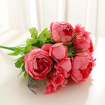 פרחים מלאכותיים 29 פרחי אדמונית בסגנון אירופאי