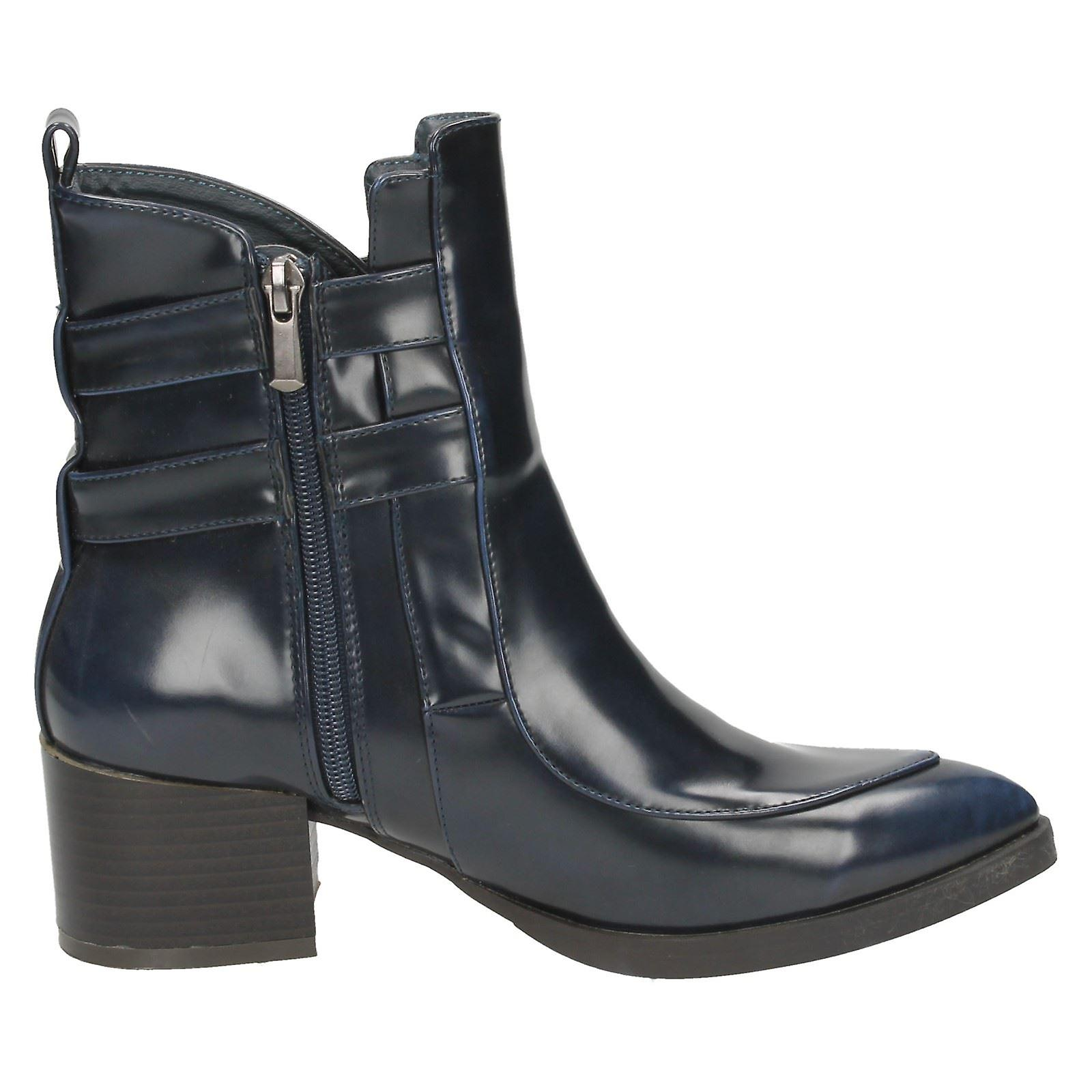 Ladies Spot On Ankle Boots F50343