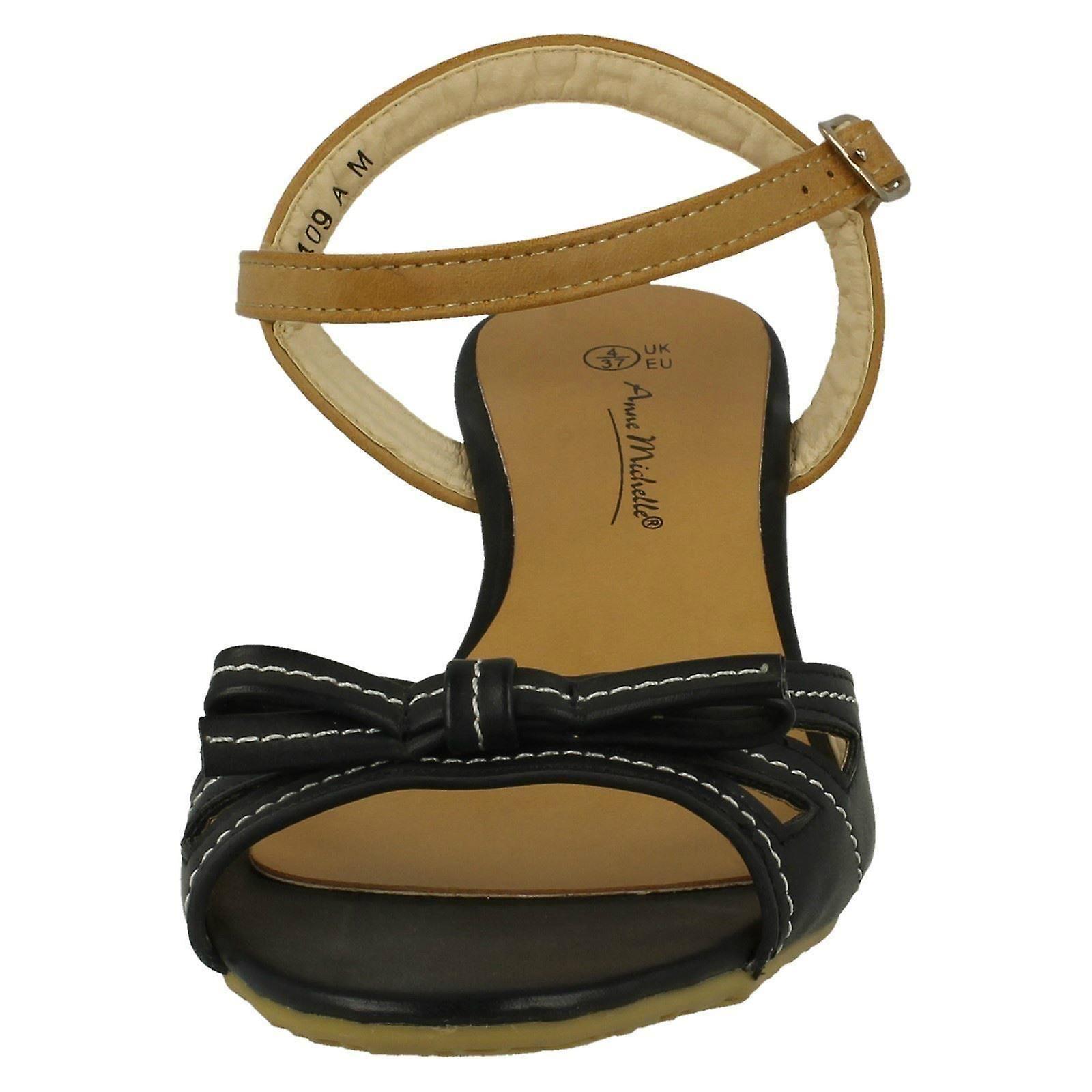 Mesdames Anne Michelle Open Toe Bow Sandales De Détail