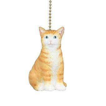 Here Kitty Kitty Orange Tabby Kitten Cat Ceiling Fan Light Pull