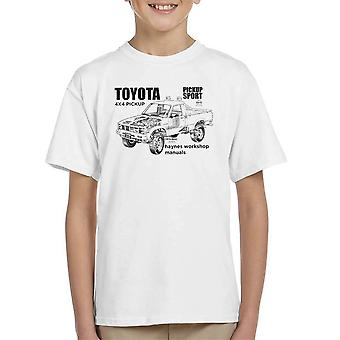 Haynes Workshop Manual Toyota Sport 4x4 Black Kid's T-Shirt