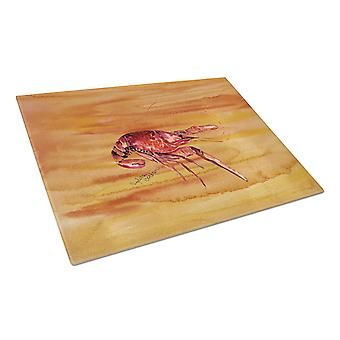 Carolines Treasures  8232LCB Crawfish Hot and Spicy Glass Cutting Board