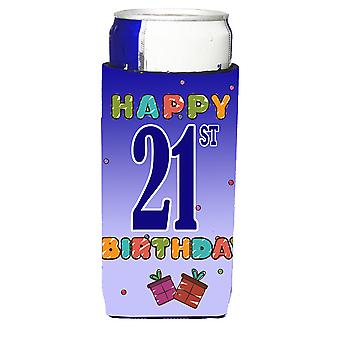 Happy 21st Birthday Ultra Beverage Insulators for slim cans