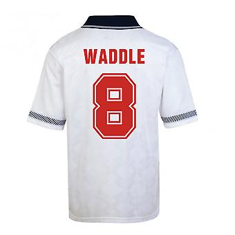 Score Draw England World Cup 1990 Home Shirt (Waddle 8)
