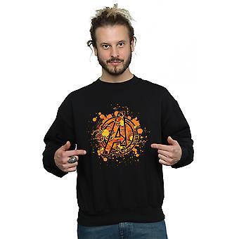 Marvel Men's Avengers Assemble Halloween Spider Logo Sweatshirt