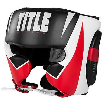 Title Boxing MMA Command Training Headgear - Black/White/Red