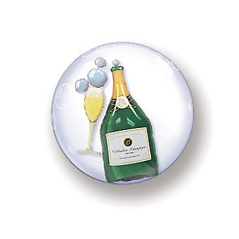 Ballon Double Bubbel Kugel Blase Champagnerflasche circa 55cm