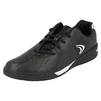Boys Clarks Trainers Award Run - Black Leather - UK Size 9G - EU Size 43 - US Size 9.5W