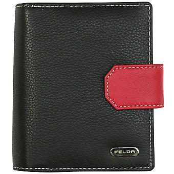 Felda RFID Genuine Leather Ladies Purse Wallet 14 Credit Card Slots & Coins Compartment