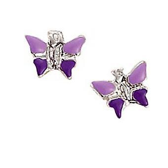 Scout kinderen oorbellen zilveren vlinder paars meisje 262129100