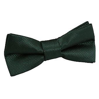 Verificação de sólido verde escuro Bow gravata para meninos