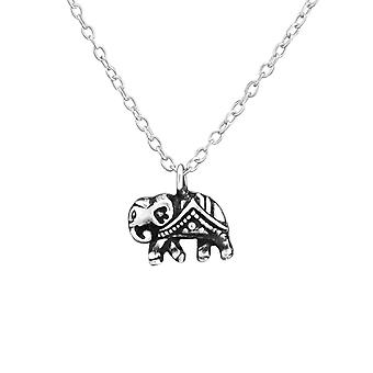 الفيل-925 الاسترليني فضة عادي قلادات-W37613x