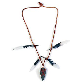 Nativi americani indiani Arrowhead Collana Costume accessorio