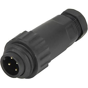 Weipu 814085 Bullet connector Plug, straight Series (connectors): WA Total number of pins: 3 + PE 1 pc(s)