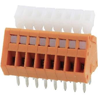 Degson DG240-2.54-02P-15-00AH-1 Veerbelaste terminal 0,51 mm² Aantal pinnen 2 Oranje 1 st(en)
