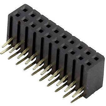 Connfly Receptacles (standard) No. of rows: 2 Pins per row: 10 DS1026-13-2*10S8BR 1 pc(s)