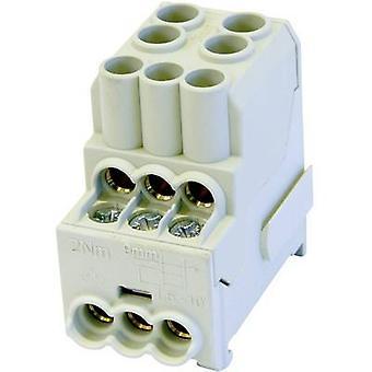 HoraeTec 080010-0-4 Distribution block Grey 1-pin