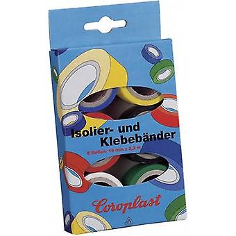 Coroplast 28839 28839 PVC tape set Blue, Yellow, Red, Black, White, Green (L x W) 3 m x 19 mm 6 pc(s)