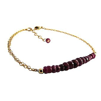Gemshine - dames - bracelet - plaqué or - rouge - rouge - CONFETTI