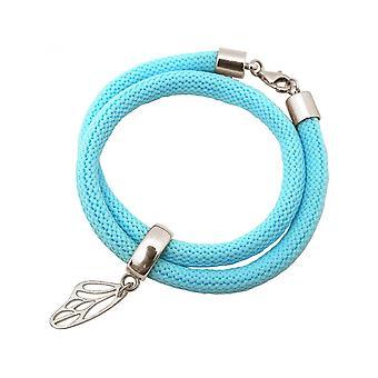 -Pulseira - pulseira - prata 925 - borboleta - azul