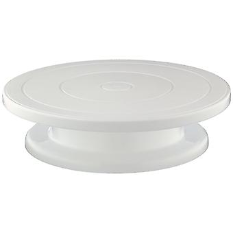 28cm Rotating Cake Round Display Stand | White Stand for Cakes | For Decorations Displays / 11 - Pastry Cupcake