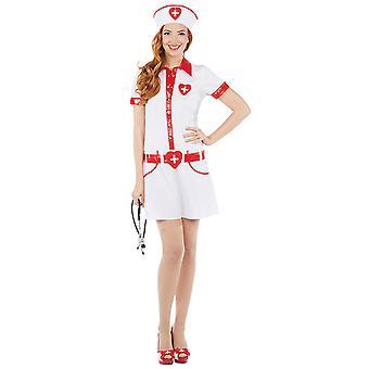Sexy Sykepleier Sykepleier Sykepleier kostyme for kvinner