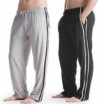 Vêtements de détente Mens Long pantalon Pyjama Bottoms (Pack de 2)