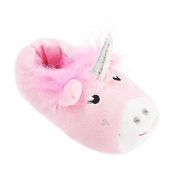 Slumberzzz Childrens Girls Unicorn Design Slippers