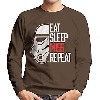 Ursprungliga Stormtrooper äta sömn Miss upprepa Mäns tröja