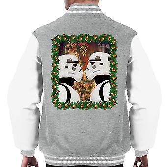 Original Stormtrooper Mistletoe Christmas Men's Varsity Jacket
