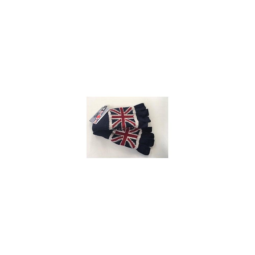 Union Jack Wear Union Jack Wooly Fingerless Gloves