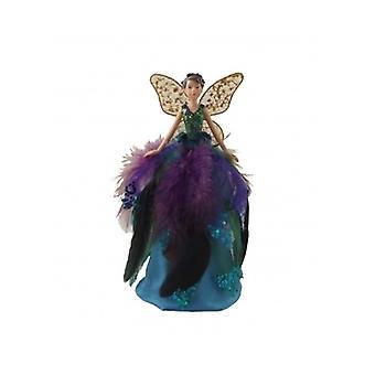 Gisela Graham Peacock bereik Fairy boom Topper