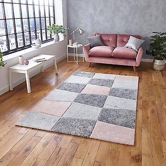 Brooklyn 22192 Rectangle Rose gris tapis tapis modernes