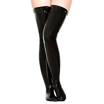 Latexa Women's Sexy Tight Stocking in Black Rubber Fetish Wear Style