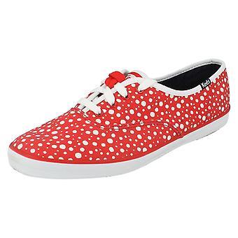 Ladies Keds Canvas Shoes CH Bubble Dot