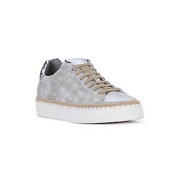 Voile blanche panarea silver shoes