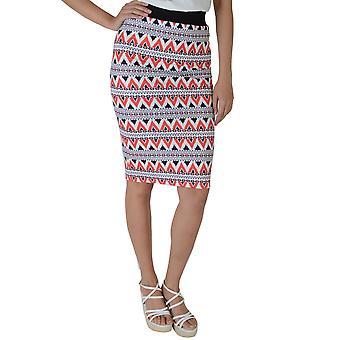 Lovemystyle Bodycon Midi Skirt With Aztec Style Print