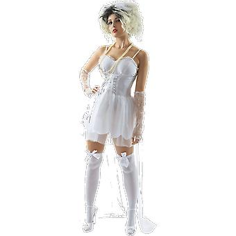 Orion Costumes Womens 80s Bride Wedding Music Hen Do Party Fancy Dress Costume