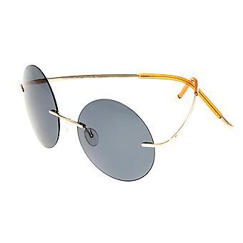 Förenkla kristna polariserade solglasögon - guld/blå
