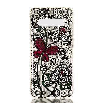 MTK Samsung Galaxy S10+ TPU  - Red Butterfly