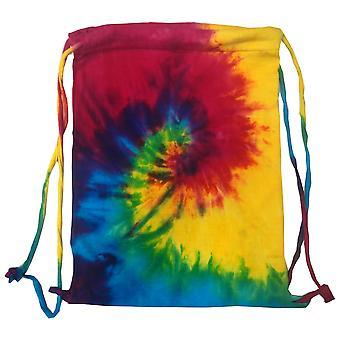 Colortone Tie Dye Sports Drawstring Tote Bag (Pack of 2)