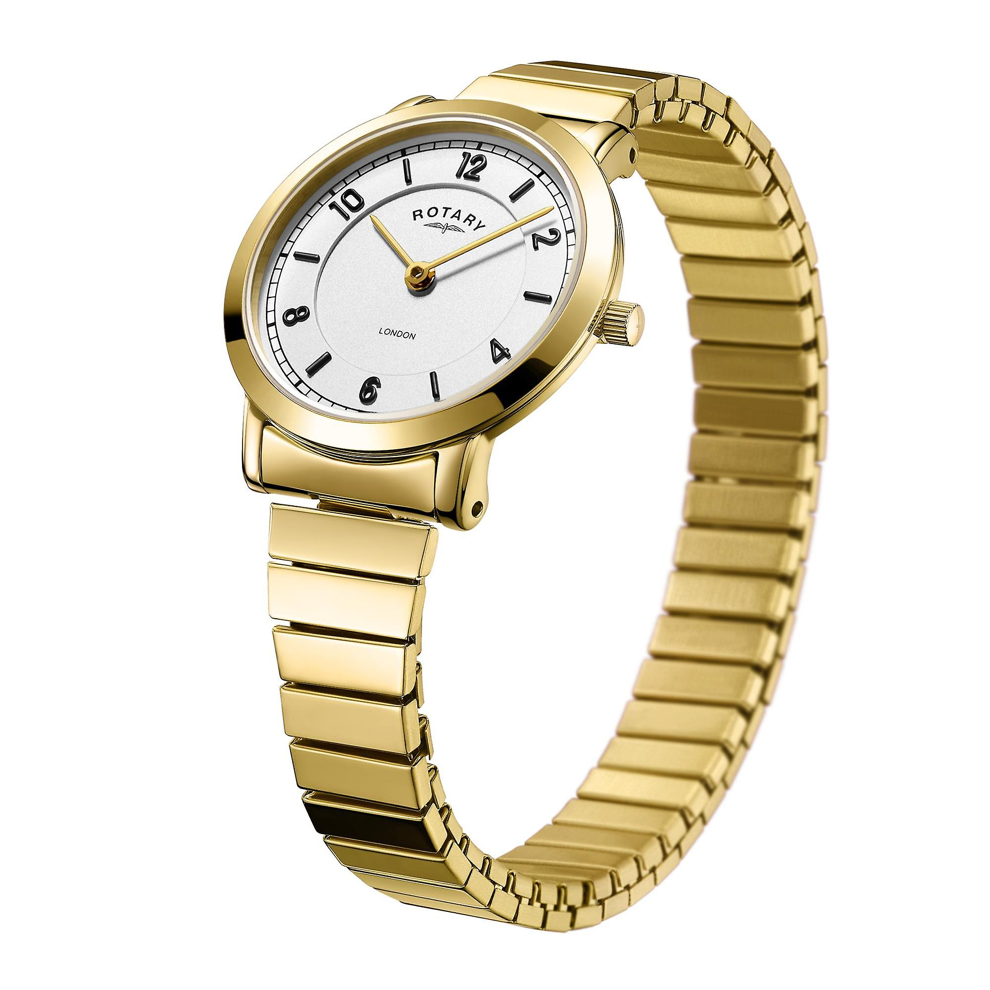 Rotary London Gold PVD Stainless Steel Expander Ladies Watch LB00766/18 29mm