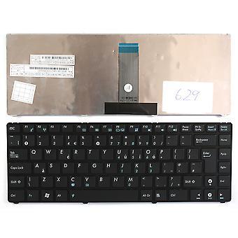 ASUS UL20A-A1 marco negro negro Reino Unido diseño recambio teclado del ordenador portátil