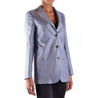 Alberto Biani Ezbc237003 Women's Light Blue Silk Blazer