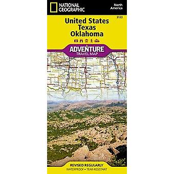 United States - Texas And Oklahoma Adventure Map by National Geograph