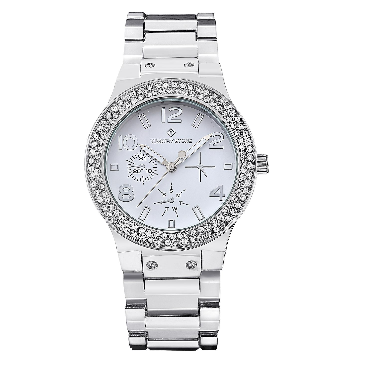 Timothy Stone Women's FA�ON-STAINLESS Silver-Tone Watch