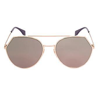 Gafas de sol de Fendi FF0194/S DDBAP | Marco dorado | Lente roja
