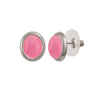 Ewige Sammlung Menuett rosa Quarz Silberfarbe Gestüt Ohrstecker