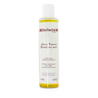 Ella Bache Tomato Cleansing Oil for Face & Eyes, Long-Wearing Make-Up (Salon Product) 200ml/6.76oz